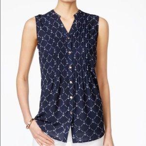 Navy Anchor blouse